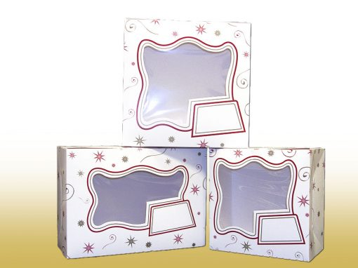 Starburst Decorated Cake Boxes
