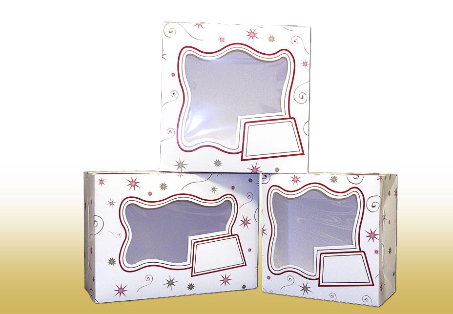 Starburst Decorated Cake Boxes